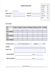 editable free 11 payroll action forms in pdf  ms word employee payroll change form template excel