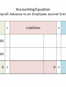 editable payroll advance to an employee journal entry  double entry employee payroll advance template excel
