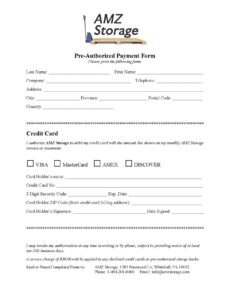 free credit card preauthorized payment form pre authorized payment form template pdf