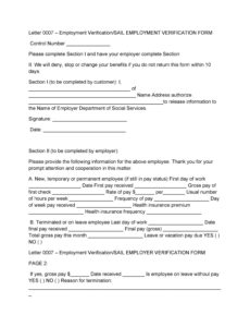 printable 40 proof of employment letters verification forms & samples pay frequency change notice template word
