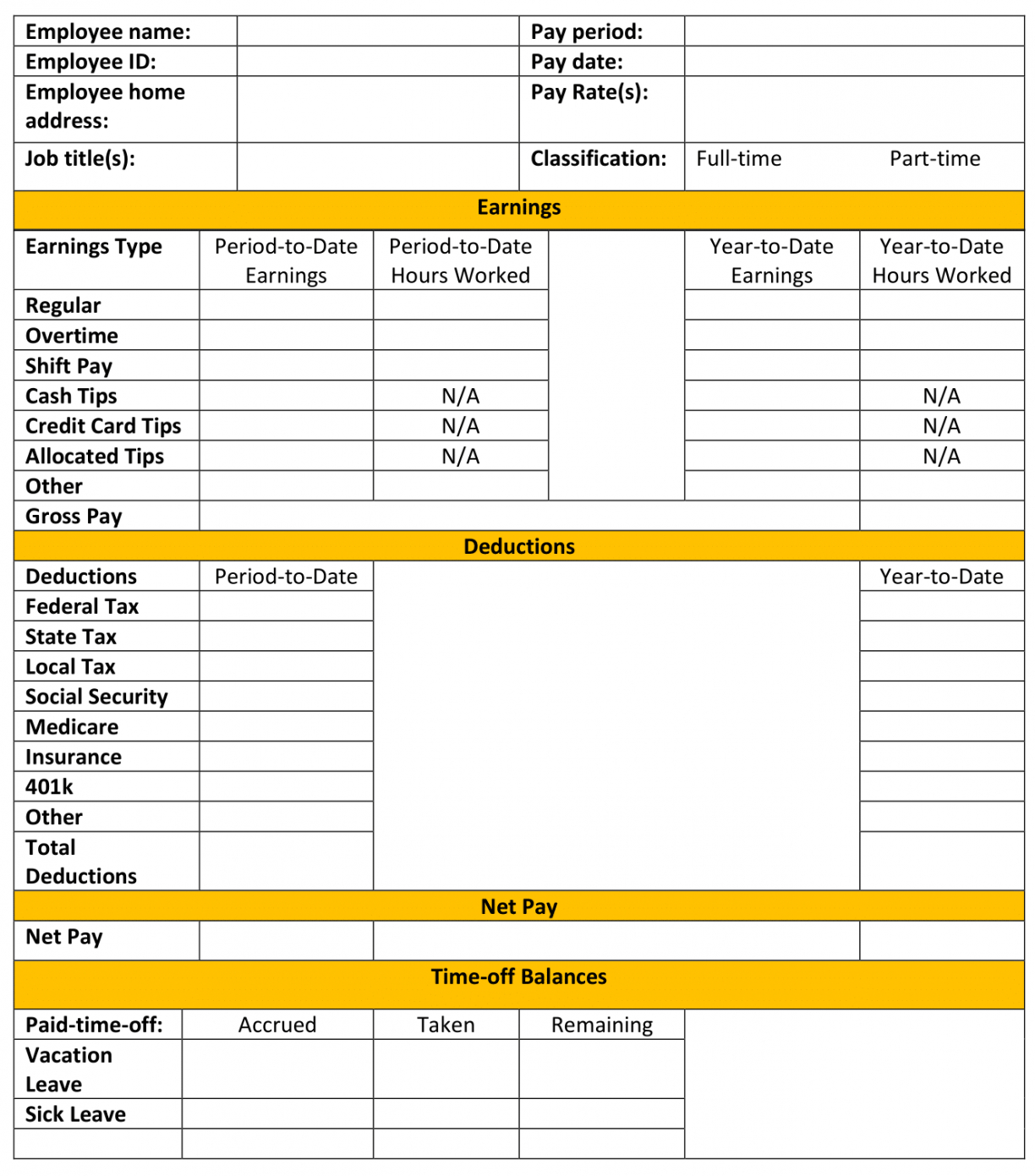 sample free pay stub template tips & what to include subcontractor pay stub template example