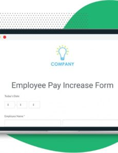 editable employee pay increase form template  formstack employee pay increase template example
