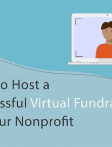 free how to host a successful virtual fundraiser for your nonprofit fund development plan template pdf
