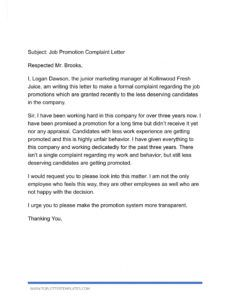 free letter of complaint to employer unfair treatment  top resignation letter due to unfair treatment doc