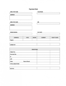 free paycheck stub  fill online printable fillable blank pay stub template without tax excel