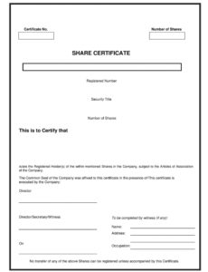 printable 40 free stock certificate templates word pdf  templatelab dividend payment voucher template pdf