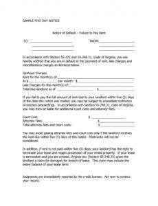 34 printable late rent notice templates  templatelab notice of late rent payment template example