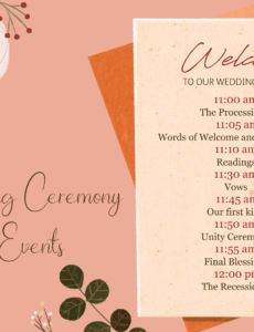 an easy breakdown of traditional wedding ceremony order wedding ceremony order service template example