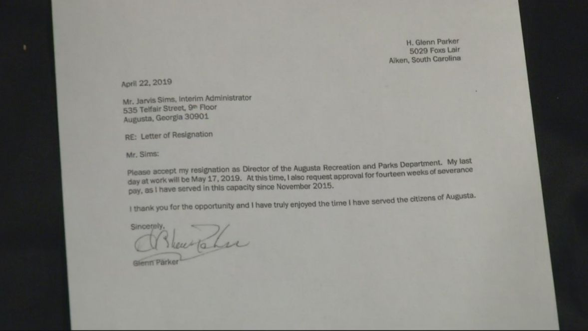 commissioners says big severance deals a mistake resignation letter requesting severance pay doc