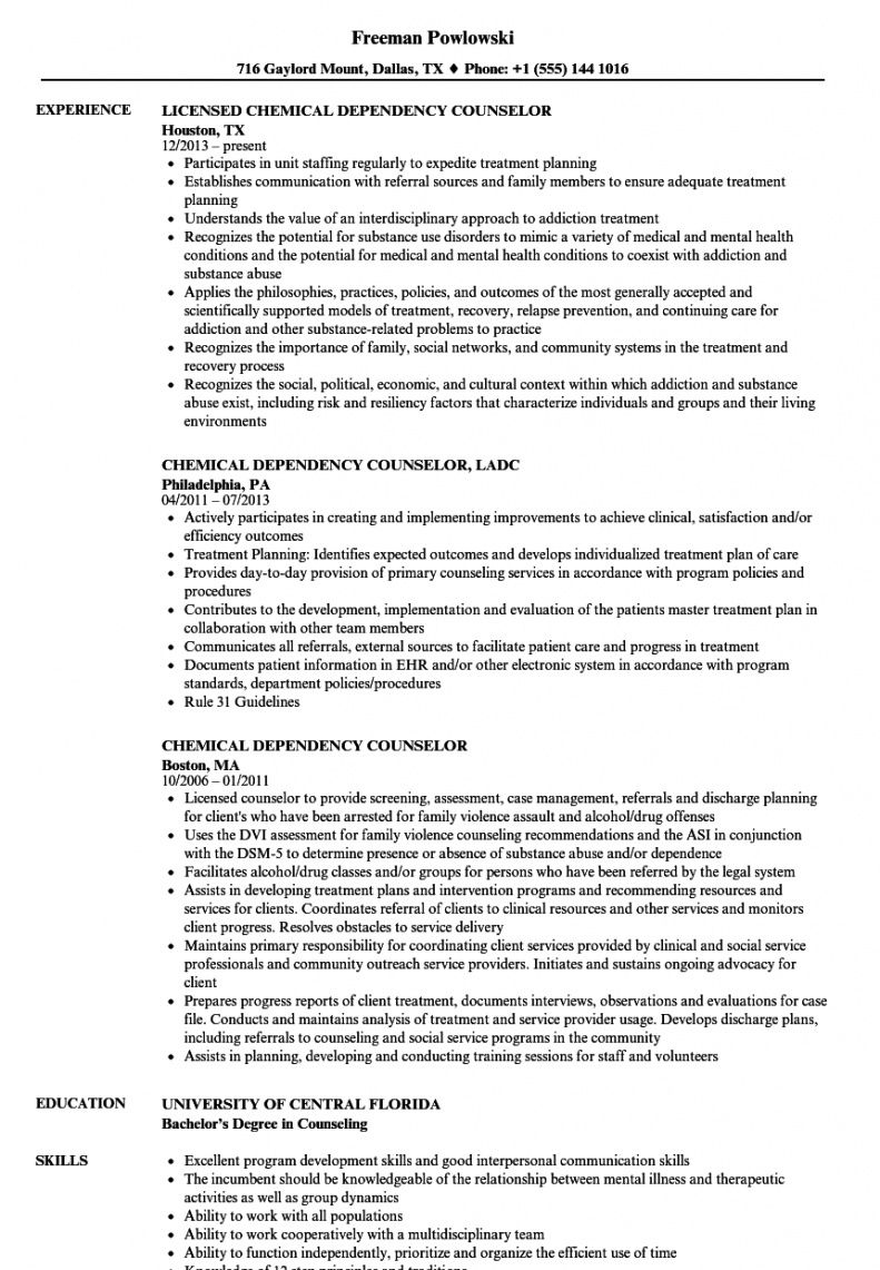editable chemical dependency counselor resume samples  velvet jobs chemical dependency treatment plan template excel