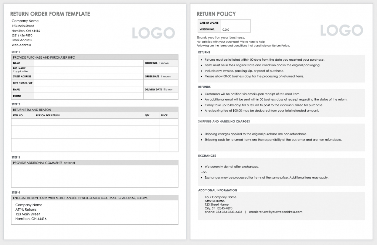 editable free order form templates  smartsheet trade show order form template excel