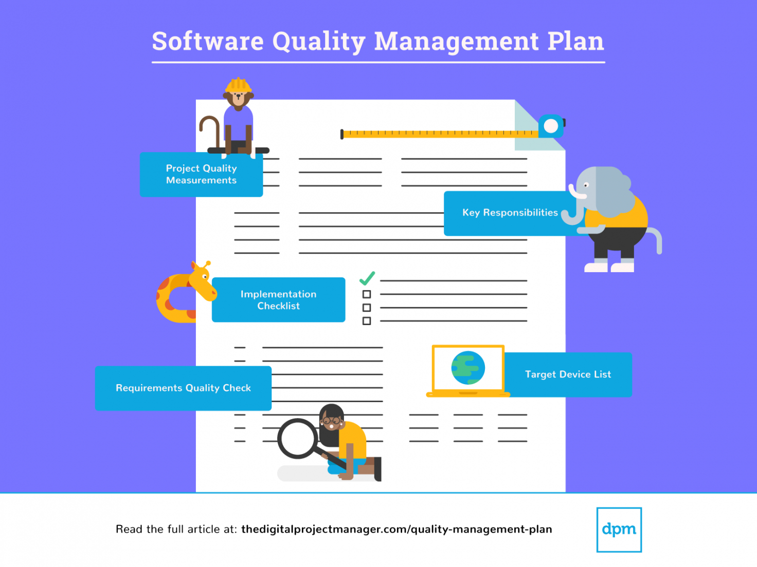 editable how to develop a quality management plan  the digital project management quality management plan template example