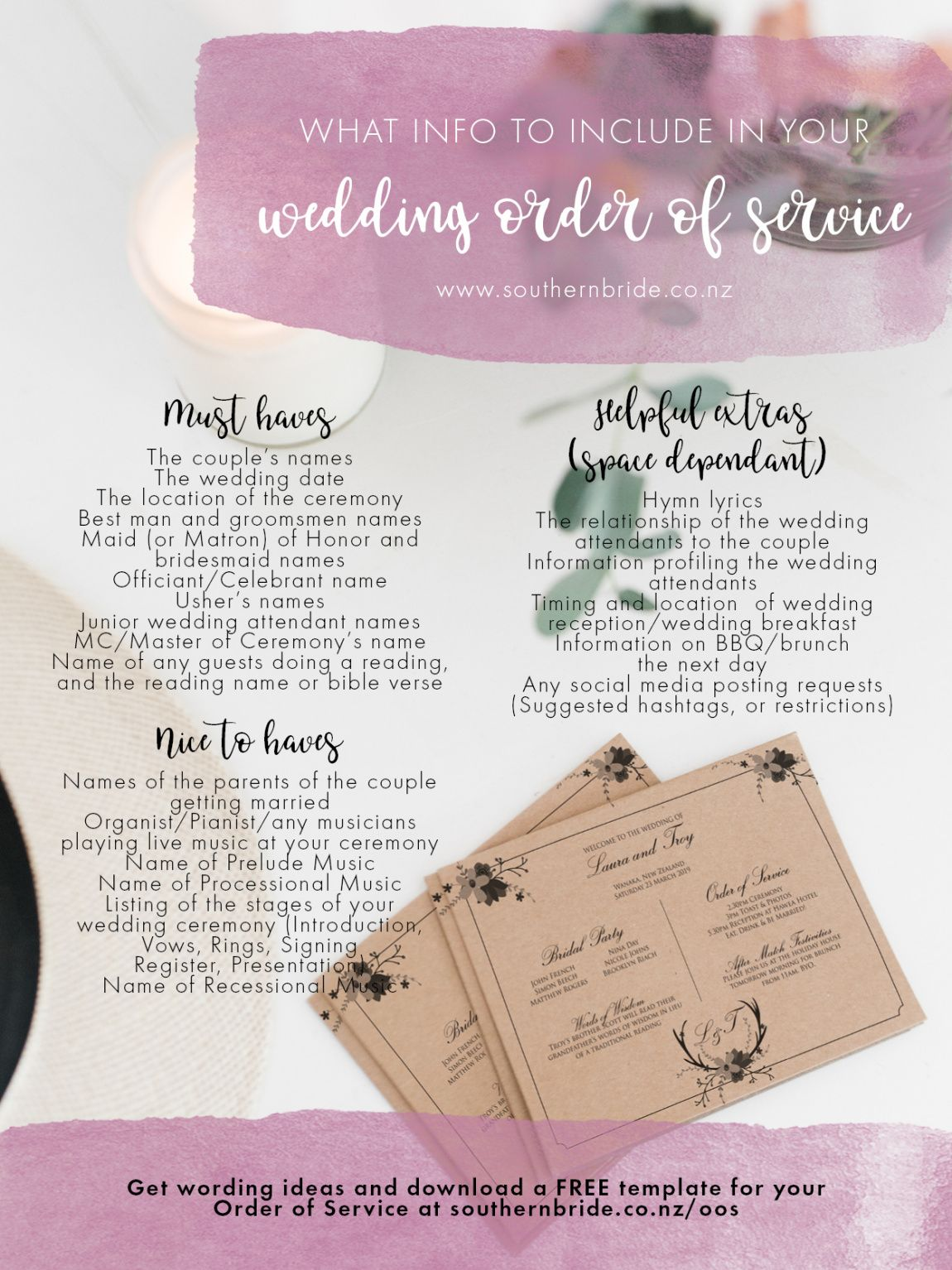 editable wedding order of service wording template what to include wedding ceremony order service template word