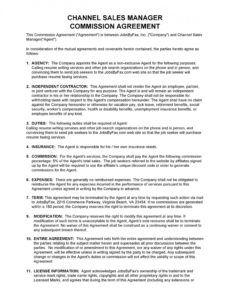 free 36 free commission agreements sales real estate contractor sales agreement commission template excel