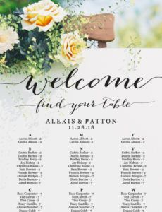 free alphabetical seating chart seating chart template wedding wedding seating chart alphabetical order template excel