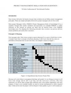 free pdf project management skills for data scientists data science project plan template example
