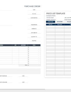 free purchase order templates  smartsheet international purchase order template