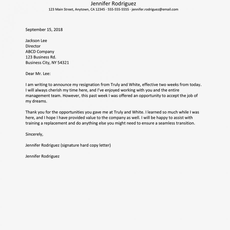 no notice resignation letter example and writing tips resignation letter without notice template sample