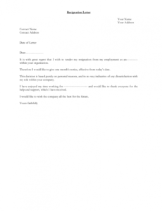 printable 29 resignation letter examples in pdf  examples resignation letter from volunteer position
