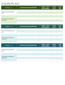 printable 32 sales plan & sales strategy templates word & excel key account sales plan template sample
