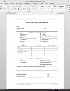 printable costume personnel change notice template hrg1013 payroll payroll schedule change notice template pdf