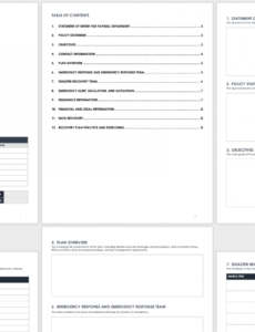 printable free disaster recovery plan templates  smartsheet payroll disaster recovery plan template word