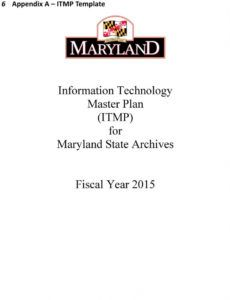 printable information technology master plan itmp guidelines information technology master plan template