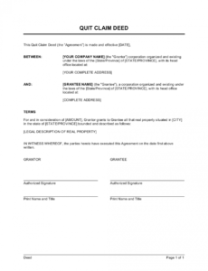 quit claim deed template businessinabox™ quit claim for final pay template pdf
