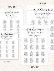 sample alphabetical seating chart seating chart template wedding wedding seating chart alphabetical order template pdf