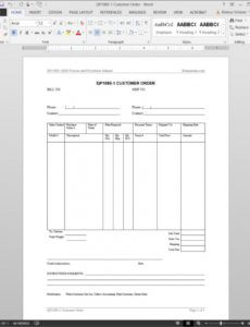sample customer order iso template  qp10801 trade show order form template doc