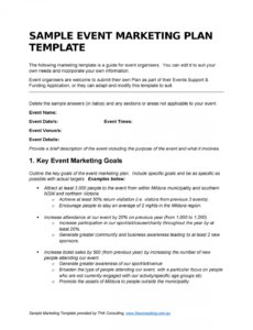 sample events marketing plan template  financial reporting cpa venue marketing plan template doc
