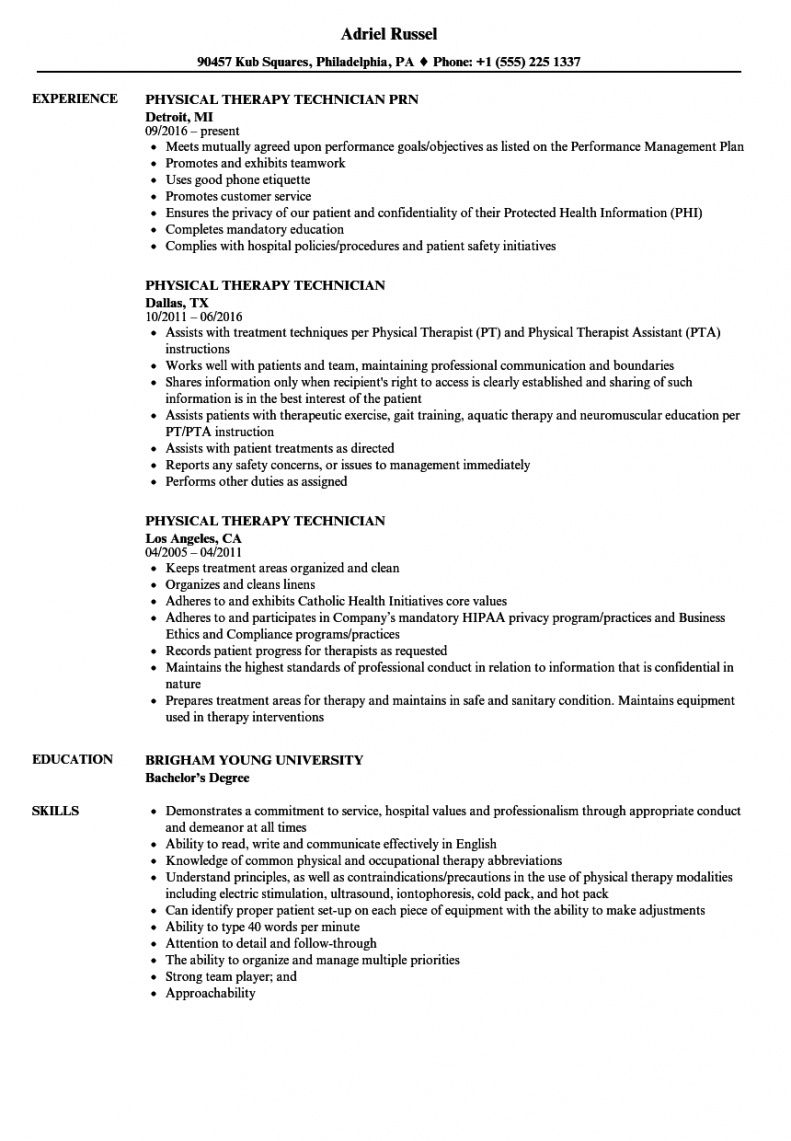 sample physical therapy technician resume samples  velvet jobs physical therapy business plan template pdf