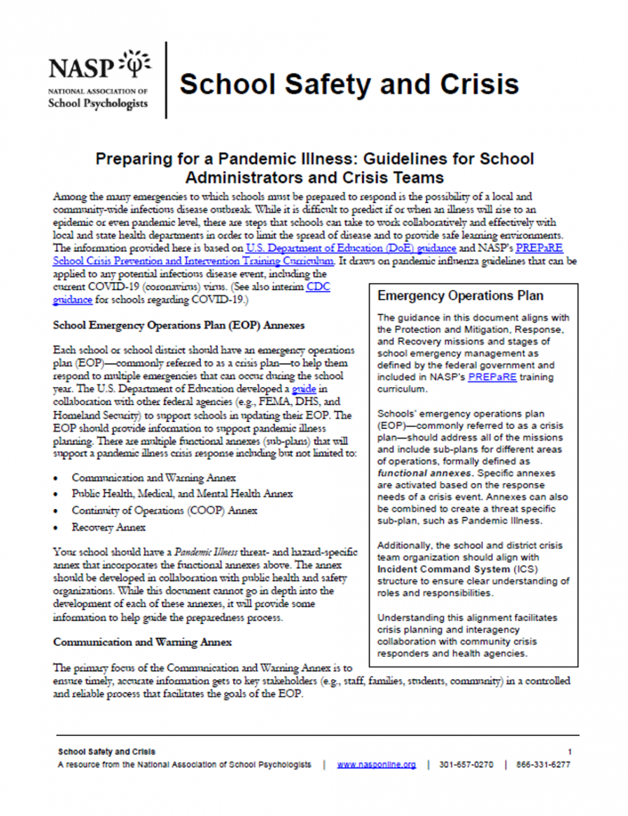 sample preparing for a pandemic illness guidelines for school pandemic response plan template excel