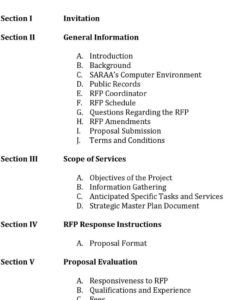 sample request for proposal information technology master plan information technology master plan template pdf