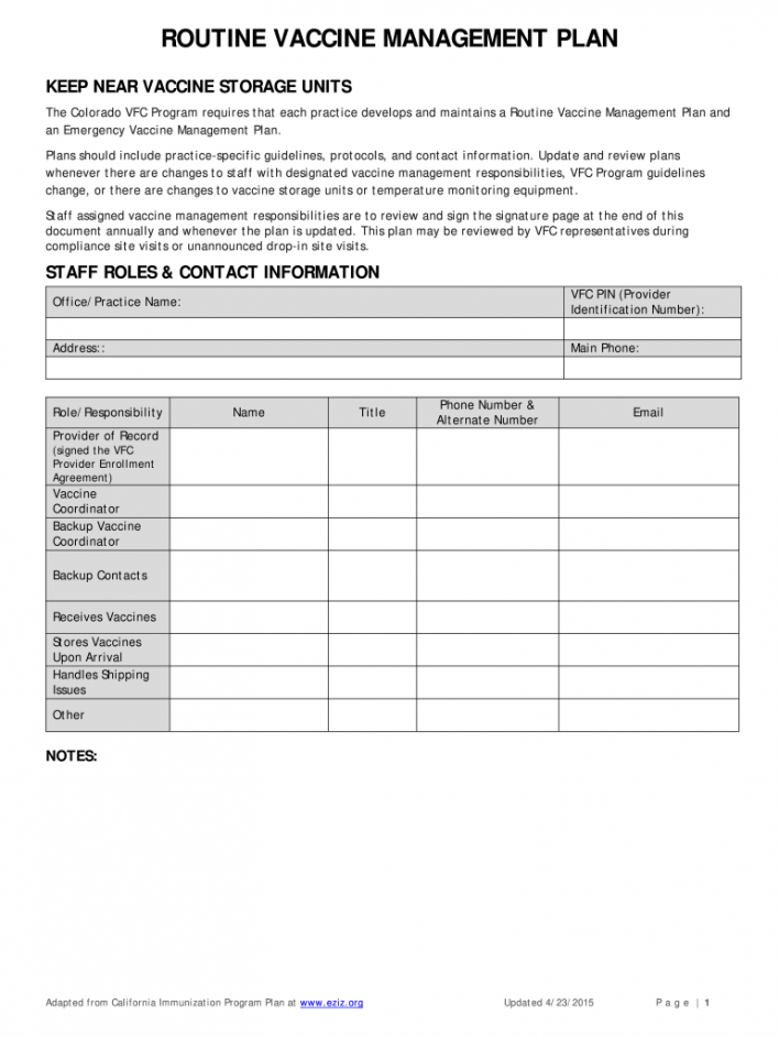 vaccine management plan  fill out and sign printable pdf template  signnow vaccine management plan template example
