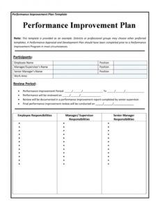 40 performance improvement plan templates & examples business improvement plan template