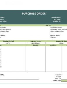 43 free purchase order templates in word excel pdf purchase order invoice template