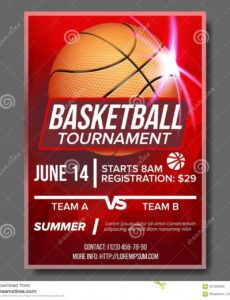basketball poster vector tournament banner advertising basketball league schedule template excel