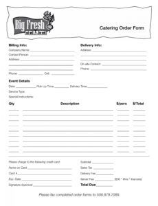 catering order form template ~ addictionary catering order form template doc