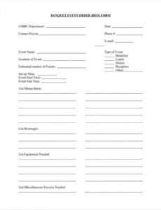 editable 10 event order form templates  google docs google sheets banquet event order template example