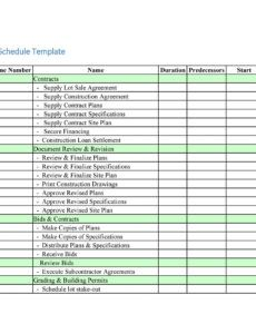 editable 23 construction schedule templates in word & excel home construction schedule template