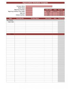 editable 35 depreciation schedule templates for rental property car monthly depreciation schedule template word