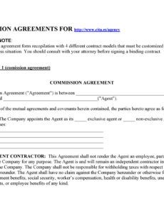 editable 36 free commission agreements sales real estate contractor sales contract commission template excel