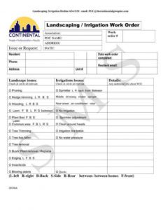 editable 4 landscaping invoice templates  pdf word  free landscaping work order template pdf