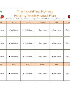 editable 40 weekly meal planning templates  templatelab weekly dinner schedule template
