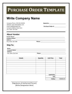 editable 43 free purchase order templates in word excel pdf contractor purchase order template sample