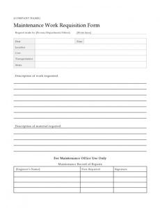 editable 54 maintenance request form templates free  templatelab residential work order template pdf