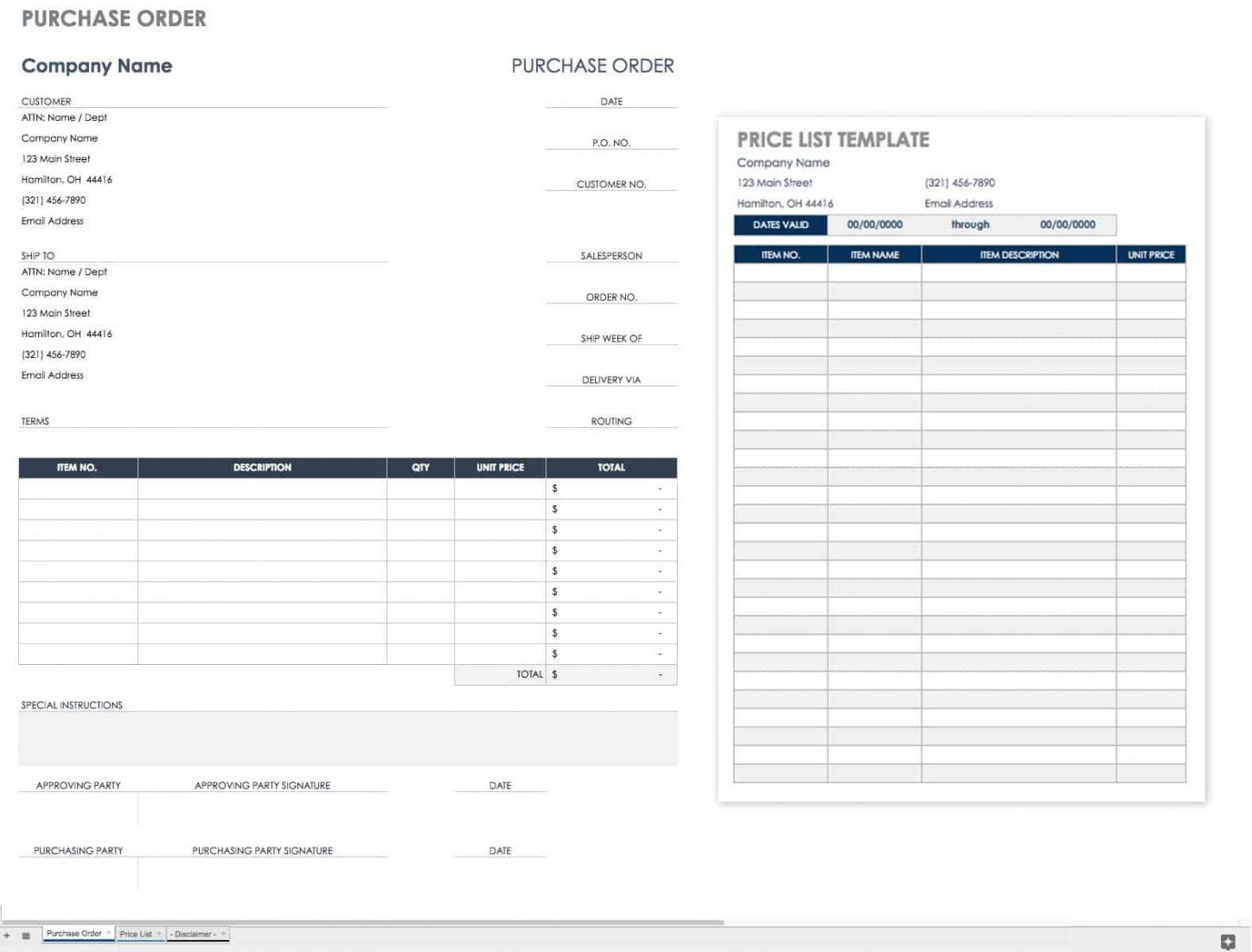 editable free purchase order templates  smartsheet purchase order invoice template excel