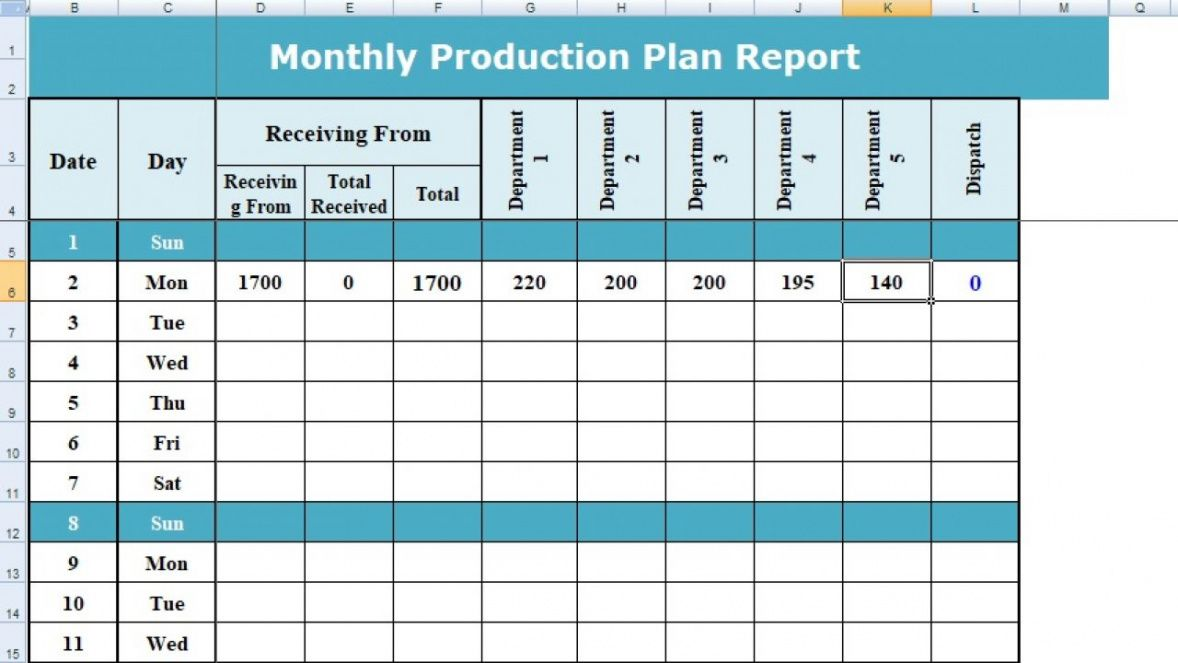 editable how to use excel format of production planning  projectemplates production planning schedule template example