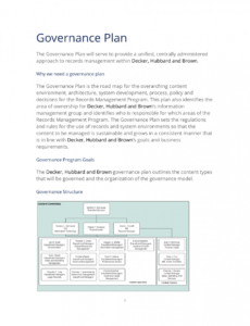 editable sample records governance plan  3 quick steps records management plan template